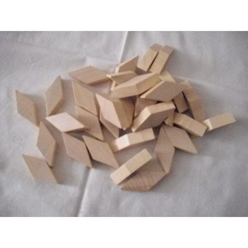 přírodní dřevěné kosodélníky