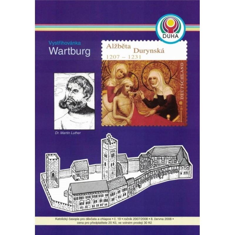 Vystřihovánka hradu Wartburg