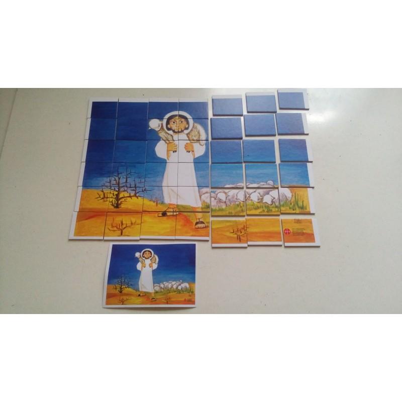Dobrý Pastýř - čtverečková skládanka