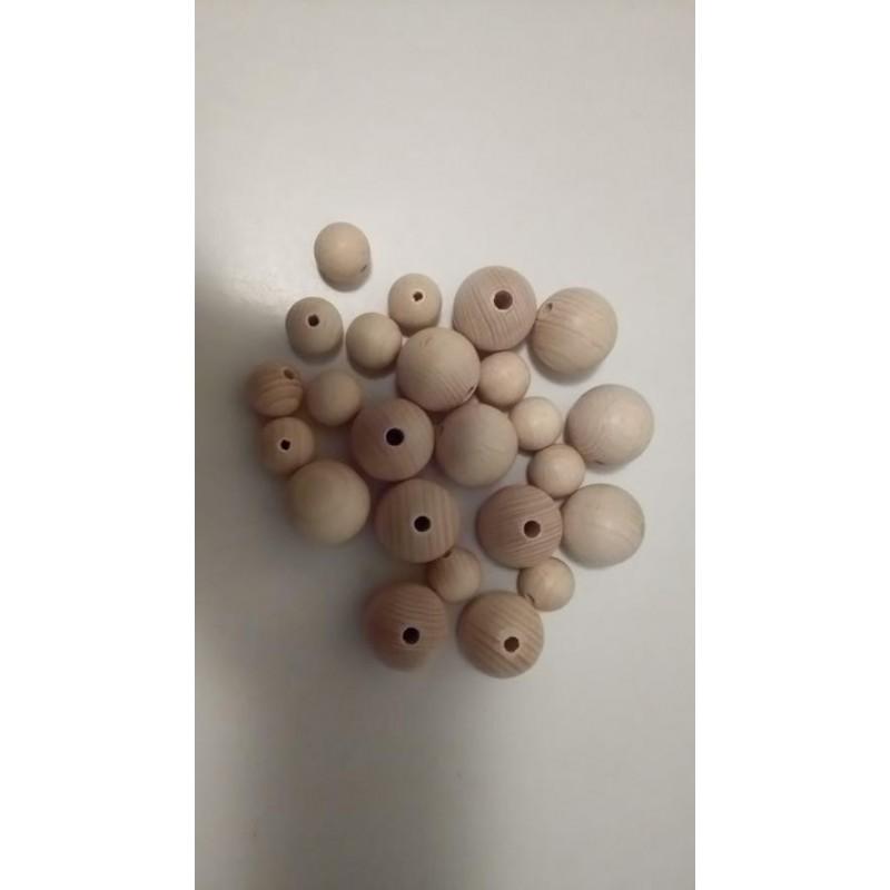 dřevěné koule přírodní