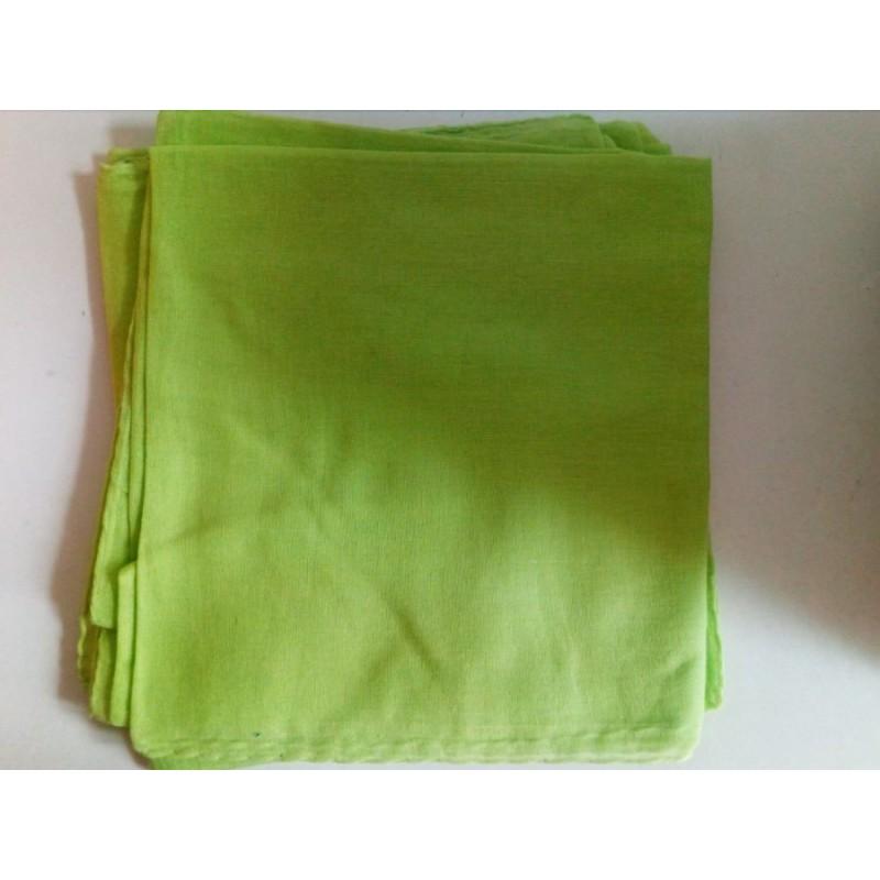 Jemný bavlněný šátek - světle zelený
